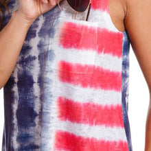 Tie Dyed American Colors Womens Top - Patriotic Source