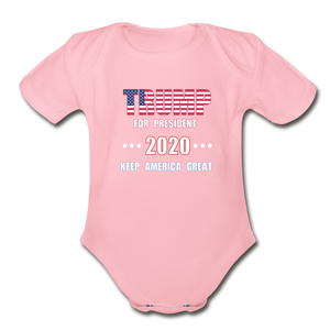 Baby Onesie Trump 2020 - Keep America Great again - PRO LIFE - Patriotic Source