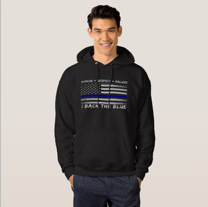 Back the Blue -Thin Blue Line Hoodie for Men and Women - Patriotic Source