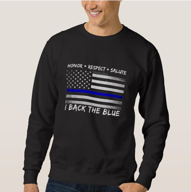 Men's Women's Thin Blue Line Sweatshirt - From Thin Blue Line Apparel Shop - Patriotic Source