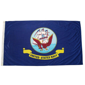 USA Military Navy Flag- American Navy Flag in Blue in 3x5ft - Patriotic Source