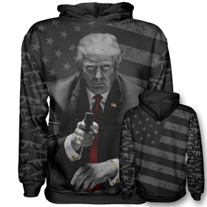 Trump Second Amendment Pro Gun Hoodie - Black - Patriotic Source
