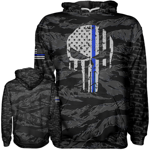 thin blue line hoodie punisher hoodie