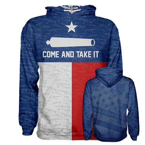 Come and Take it Hoodie in Blue, Red and White - Patriotic Source
