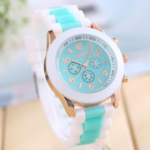 2017 New Fashion Silicone Watches For Women Dress Watches Quartz Watches Casual Sports Watch &03