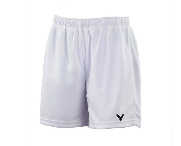 VICTOR R-3096 A UNISEX BADMINTON SHORTS [WHITE]