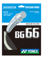 YONEX BG66 (Repulsion power) BADMINTON STRING