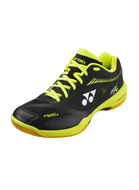 POWER CUSHION 65 X 2 WIDE (UNISEX) YONEX BADMINTON SHOES - Black/Acid Yellow