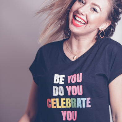 Women's V-Neck Tee - BE YOU DO