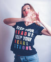 Women's V-Neck Tee - KEEP YOUR HEAD