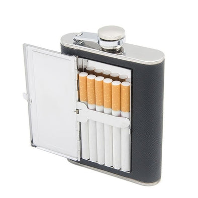 Cigarette Case Stainless Steel Flask
