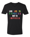 Men's V-Neck Tee - LIVE LIFE TO