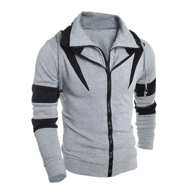Retro Long Sleeve Hoodie Men Sweatshirt