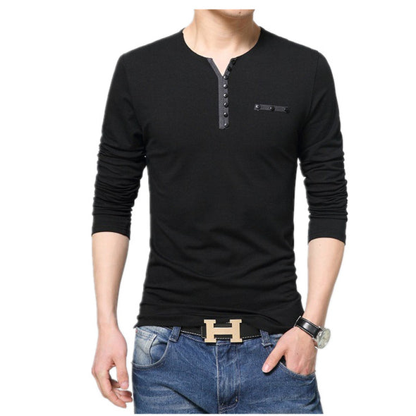 Homme Men's Long Sleeved V-Neck