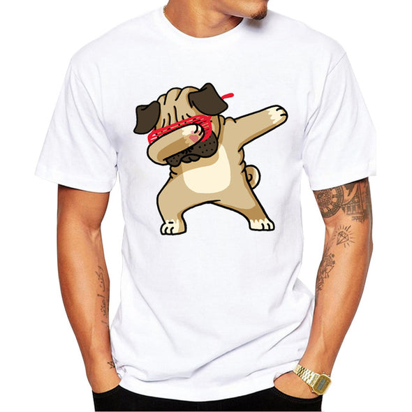 Men's Dabbing Pug T-Shirt