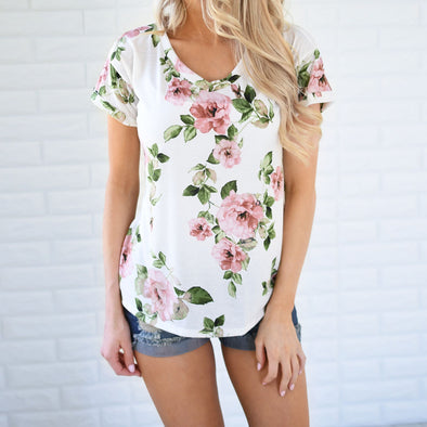 WOMEN'S CASUAL SUMMER FLORAL PRINTED SHIRT