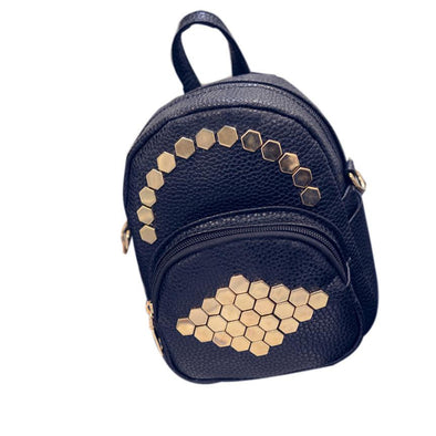 Women's Big Crown Embroidered Leather Backpack