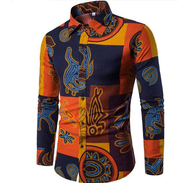 Creative Long Sleeves Men Shirt