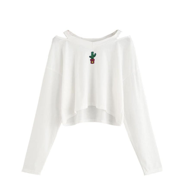 Sexy Women's Sweatshirt Off Shoulder