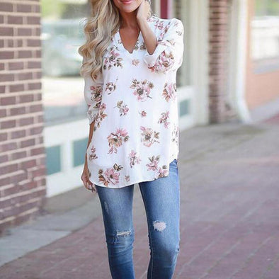 WOMEN'S SUMMER SPRING FLORAL BLOUSE