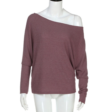WOMEN'S LOOSE LONG KNITTED SLEEVE BLOUSE