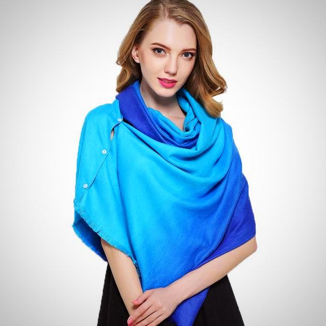 power cashmere scarf for office in blue gradient at smartstemtoys.com