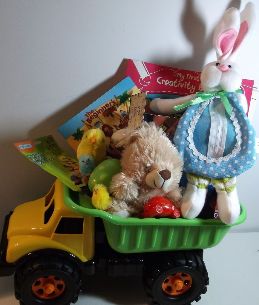 A dump truck loaded with easter gifts a dump truck loaded with easter gifts basket negle Gallery
