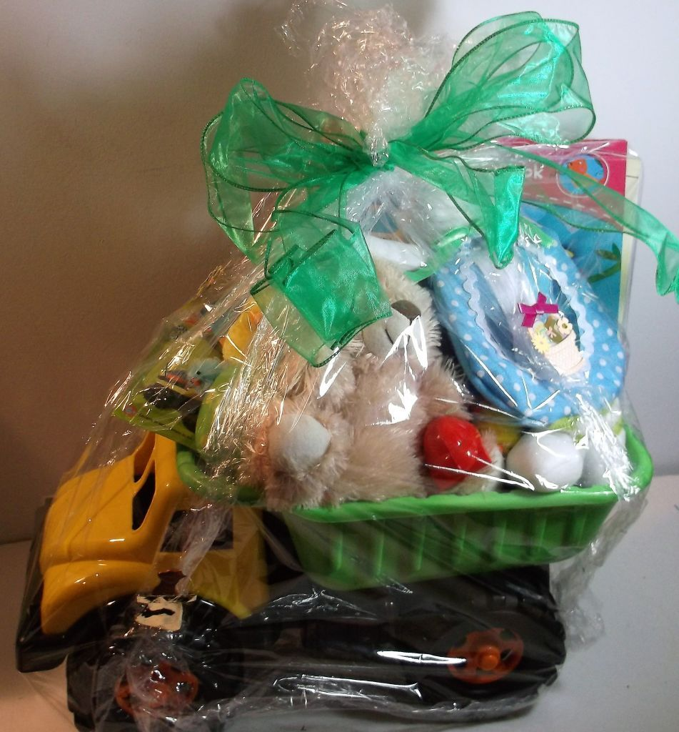 A dump truck loaded with easter gifts a dump truck loaded with easter gifts basket negle Choice Image