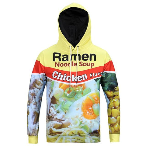 3D Printed Chicken Pattern Hoodies