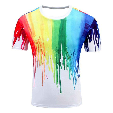 Women and Men Rainbow 3D Colourful T-Shirt