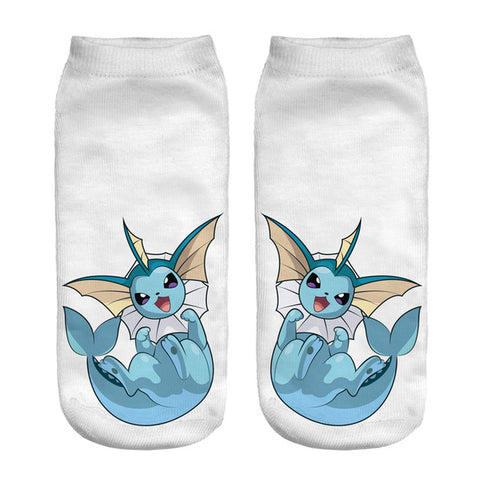 3D Pokemon Harajuku Printed Socks