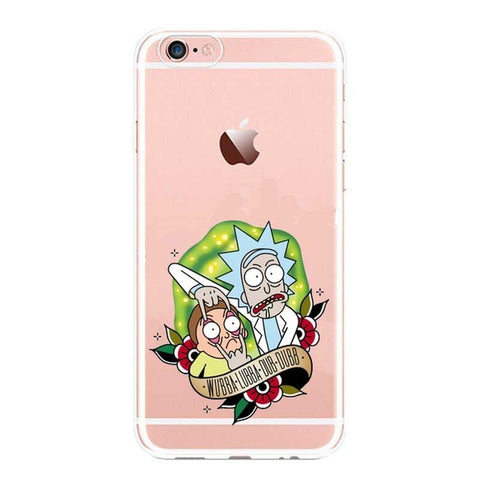 Rick and Morty Clear Transplant Phone Cases