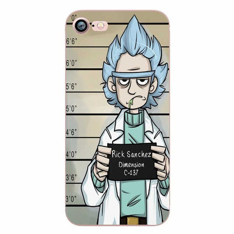 Rick and Morty Jail Clear Transplant Phone Cases