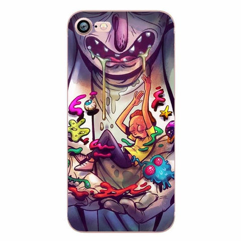 Rick and Morty Monster Clear Transplant Phone Cases