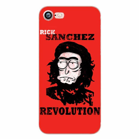 Rick and Morty Sanchez Revolution Clear Transplant Phone Cases