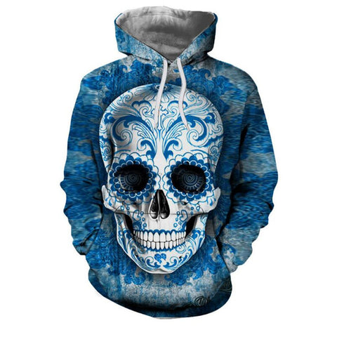 Blue Skeleton 3D Hoodies