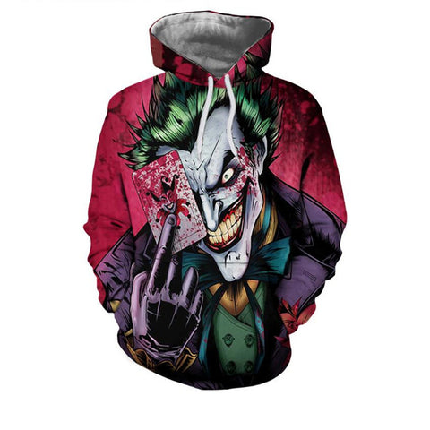 The Joker 3D Hoodies Sweatshirt