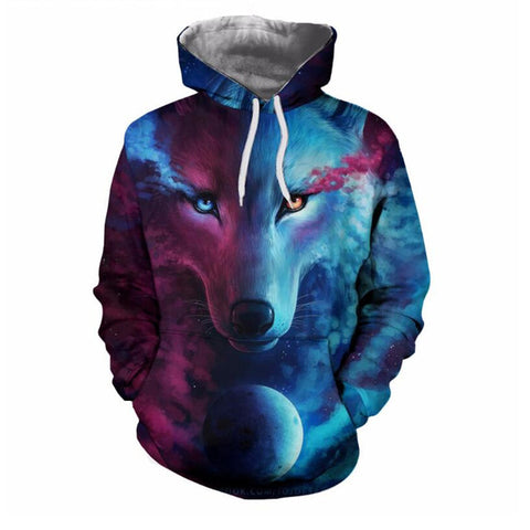 Purple and Blue 3D Hoodies Sweatshirt