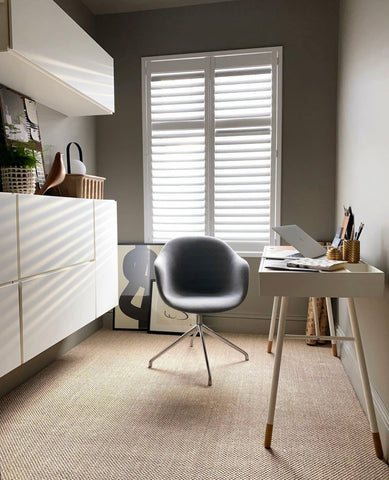 Design At Nineteen - Home Office Spare Bedroom Inspo - Working from home mindfully