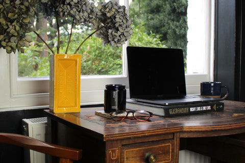 AHLT Mindful Home office scented with Fygge black fig candle by A House Like This