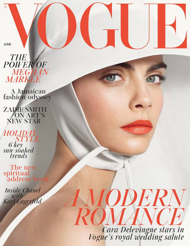 British Vogue Cover for June 2018 featuring Cara Delevingne