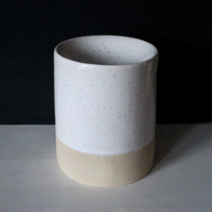 HALF GLAZED MELT BURNER | For Wax Melts & Aroma Oils | White & Raw Ceramic Wax Melt & Oil Burner A House Like This