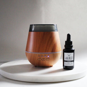 STUBBY WOOD AROMA DIFFUSER | For Scent Solutions & Essential Oils Aroma Diffuser Electric Home Aroma System - 500ml