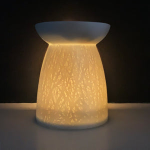 WOODLAND MELT BURNER | For Wax Melts & Aroma Oils | White Ceramic Wax Melt & Oil Burner A House Like This