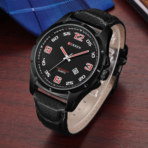 Reloj Masculino Fashion Curren Deluxe Men en Cuero