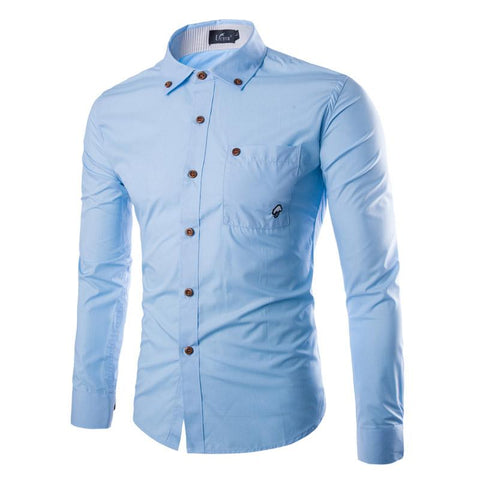 Camisa Fashion de Alta Calidad - Slim Fit Lisa - en 4 Colores