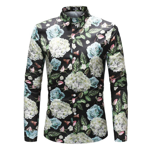 Camisa Casual Fashion Floral - Diseño Exclusivo