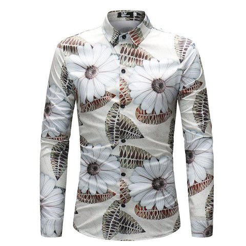 Camisa Casual Fashion - Diseño  Exclusivo Floral