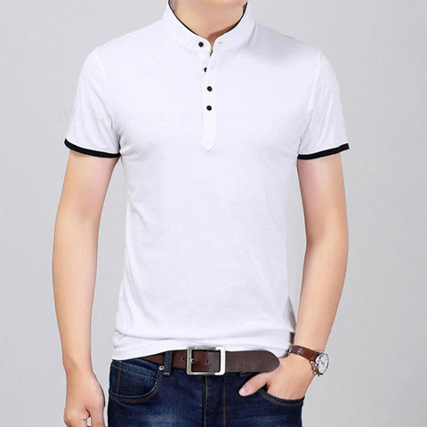 Camisa Polo Fashion - Cuello Mandarín