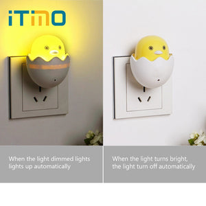 Yellow Duck Plug Light Control Sensor Bedroom Lamp